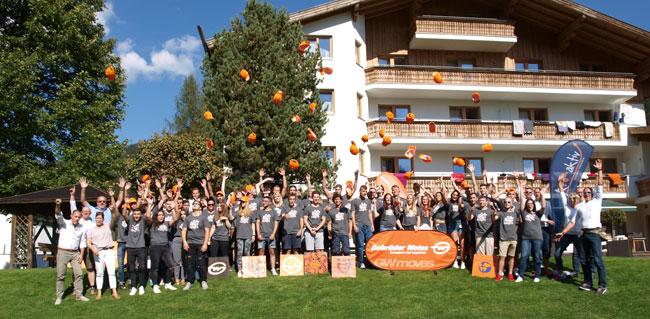 Highlight der Ausbildung: Beim Gebrüder Weiss Lehrlingscamp verbrachten 65 Lehrlinge gemeinsam eine Woche im Salzburger Pongau.